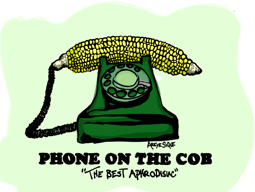 phone on the cob logo telemarketer prank calls the best aphrodisiac